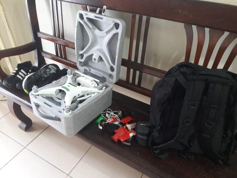 Os produtos apreendidos com o suspeito de furto - Crédito: Maycon Maximino