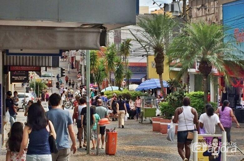 Calçadão da Rua General Osório, no centro comercial da cidade - Crédito: Divulgação