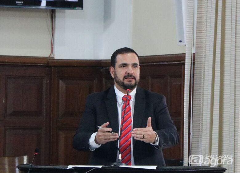 Vereador Julio Cesar, presidente da Câmara: apoio ao trabalho das entidades assistenciais de São Carlos - Crédito: Divulgação