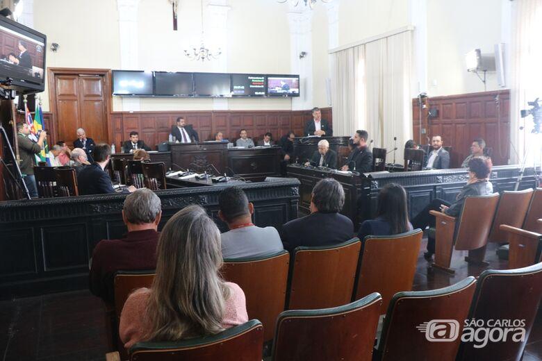 Plenário durante sessão que aprovou LDO em 1º turno no último dia 18 - Crédito: Divulgação