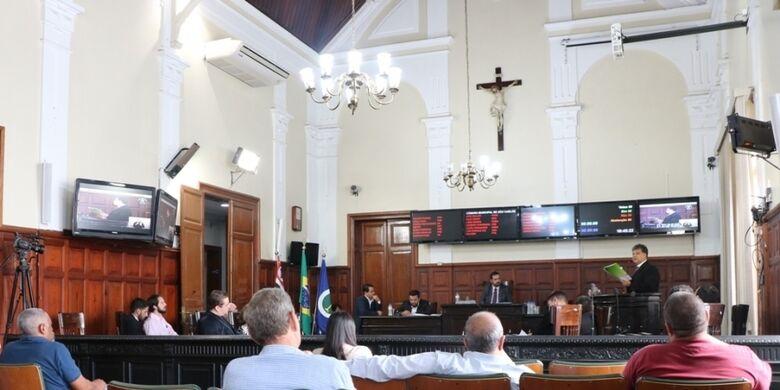 Sessão de votação da LDO no ano passado: projeto define metas e prioridades para o orçamento anual do município - Crédito: Divulgação