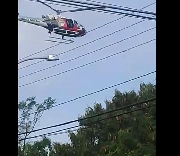 PM cerca mata no Tortorelli com apoio do helicóptero Águia [vídeo] - Crédito: Divulgação