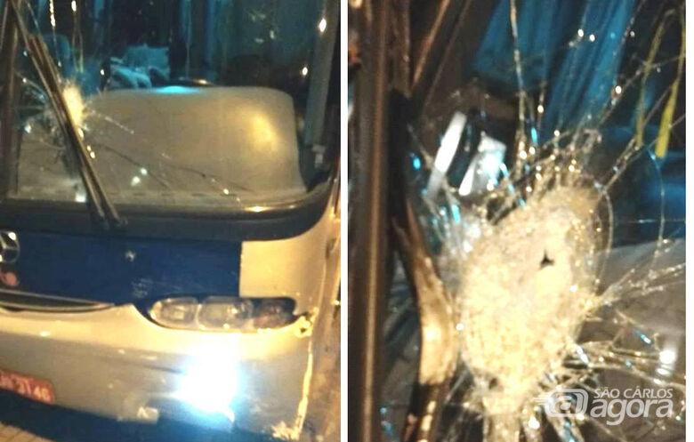 Bandidos atiram em ônibus com passageiros de Matão - Crédito: Divulgação