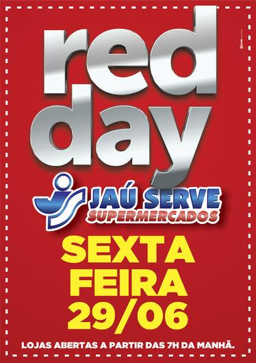 Red Day do Supermercados Jau Serve será nesta sexta-feira, 29 -