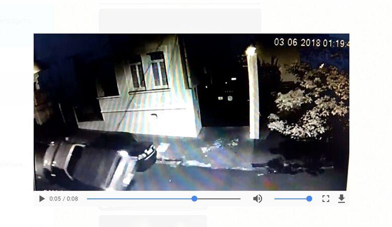 Motorista causa acidente e foge do local [veja vídeo] -