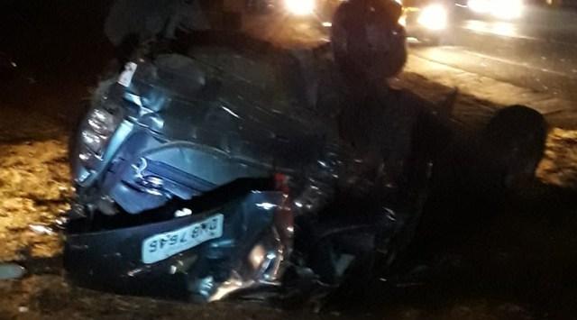 Acidente mata pai e deixa mãe e filha feridas na Washington Luis - Crédito: Grupo Rio Claro