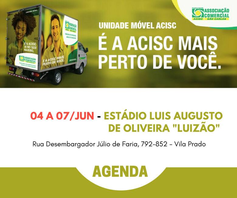 Agenda da Unidade Móvel Acisc – 4 a 7 de junho -