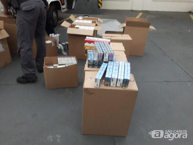 Kombi carregada de cigarros é roubada em Boa Esperança do Sul e localizada em São Carlos - Crédito: Maycon Maximino