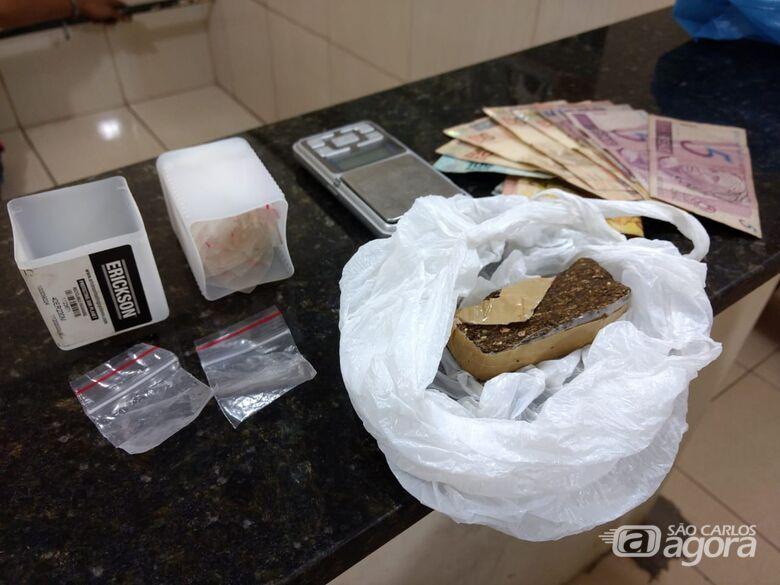 PM apreende drogas em residência no Santa Felícia - Crédito: Luciano Lopes