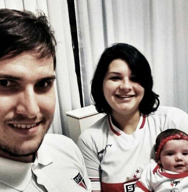 Viviane, Daniel e a filhinha. - Crédito: Redes Sociais