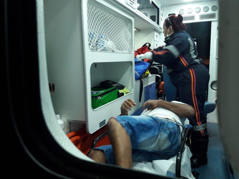 Homem é atingido por tiro nas nádegas na Vila Jacobucci - Crédito: Maycon Maximino