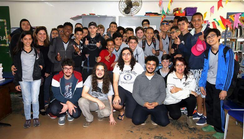 Cerca de 40 alunos participaram da atividade - Crédito: Talissa Fávero