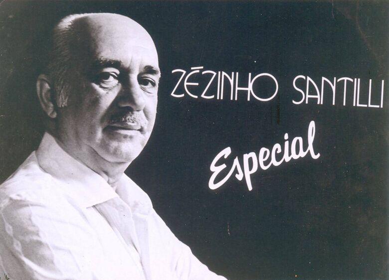 """Zezinho Santilli, a """"Voz de Ouro"""" encantou os amantes da boa música - Crédito: Arquivo/SCA"""