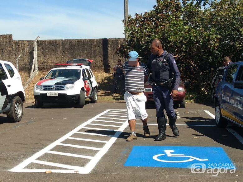 Desocupado é detido após furtar loja no Calçadão; esposa agride GM - Crédito: Luciano Lopes