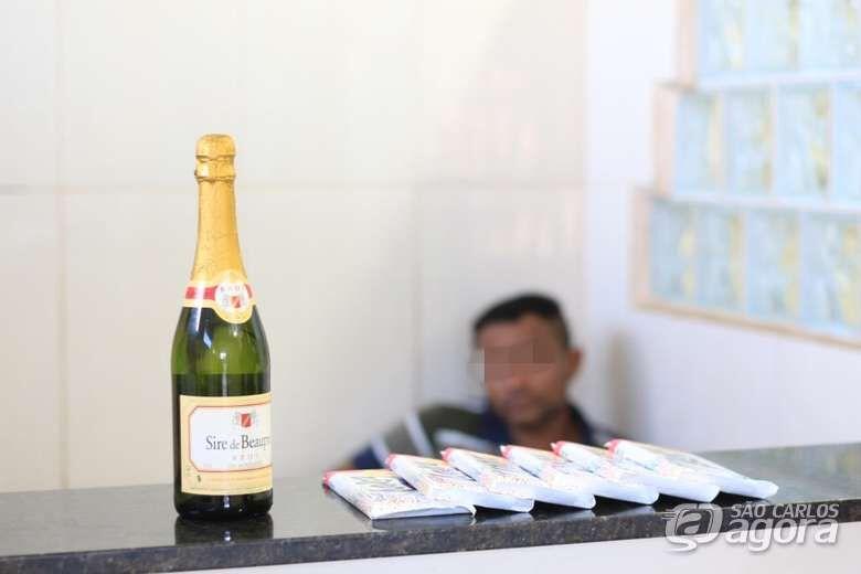 Desocupado é detido após furtar chocolate e champanhe de supermercado - Crédito: Marco Lúcio