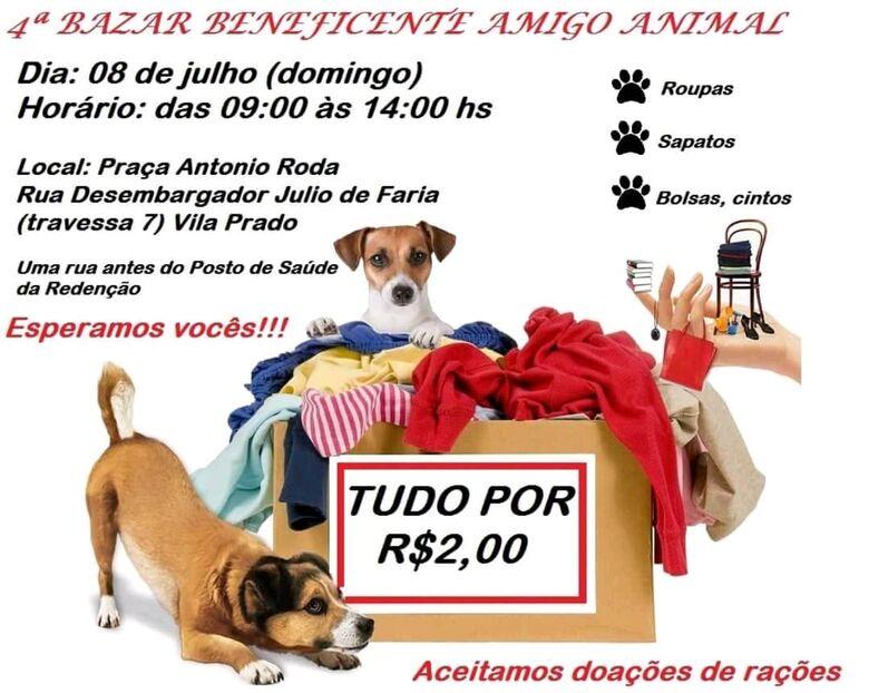 Bazar beneficente na Redenção quer ajudar o amigo animal -