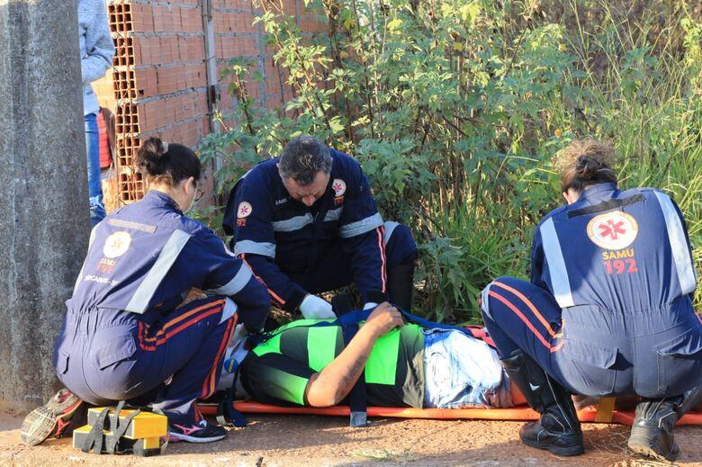 Dois ficam feridos após colisão em estrada municipal - Crédito: Marco Lúcio
