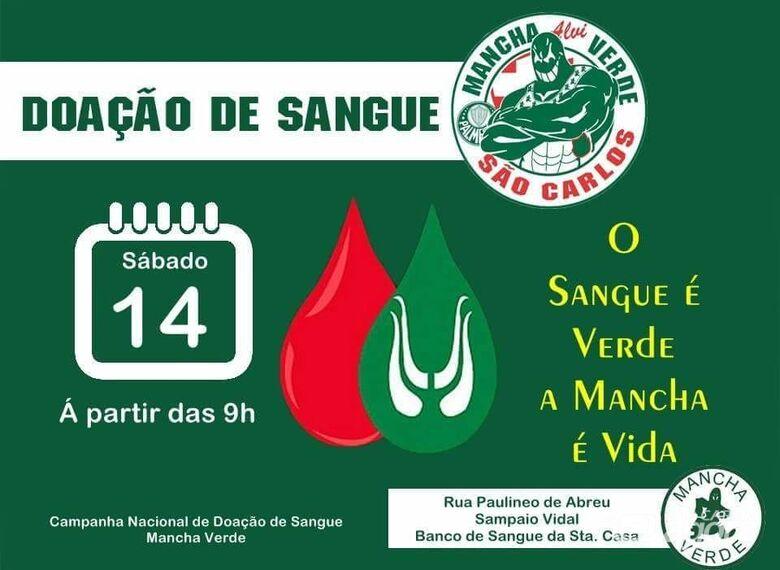 Mancha Verde fará campanha nacional de doação de sangue -