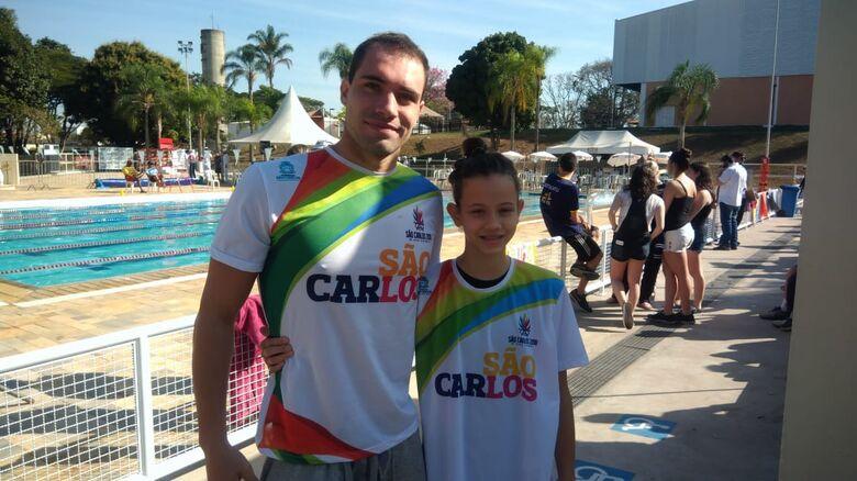 Michael e Giovana representaram a LCN/Aquário Fitness e defenderam São Carlos nos Regionais - Crédito: Marcos Escrivani
