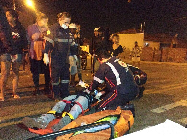 Motociclista sofre fratura em acidente no Eduardo Abdelnur -