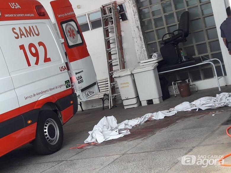 PM é esfaqueado várias vezes em posto de combustíveis no Pacaembu - Crédito: Maycon Maximino