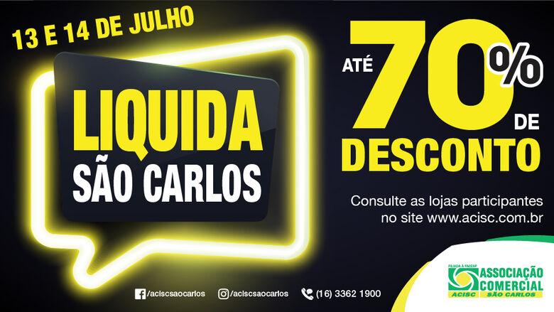 Lojas que participam do Liquida São Carlos 2018 devem oferecer desconto de até 70% -