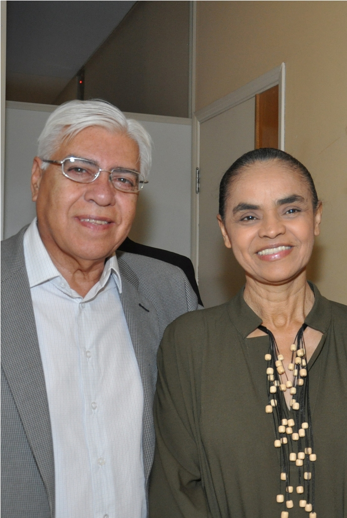 Azuaite conversa com Marina Silva sobre segurança, educação e previdência - Crédito: Divulgação