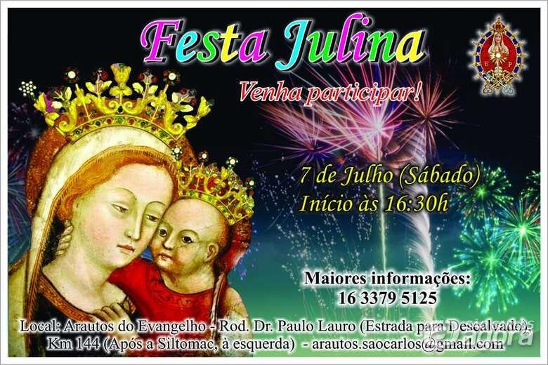 Festa Julina promete agitar o sábado no Arautos do Evangelho -