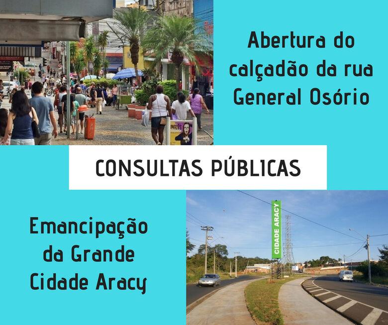 População pode opinar em Consultas Públicas promovidas pela Câmara até segunda-feira - Crédito: Divulgação