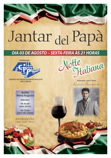 "Centro do Professorado Paulista promove o ""Jantar del Papà"" -"