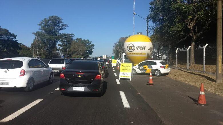 Operação flagra 17 motoristas dirigindo alcoolizados na Washington Luis, em São Carlos - Crédito: Divulgação