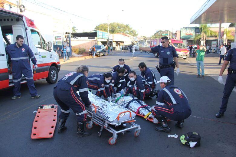Idosa atropelada por moto não resiste aos ferimentos e morre - Crédito: Maycon Maximino