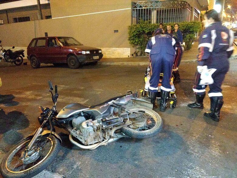 Colisão entre duas motos deixa mulher ferida no Botafogo - Crédito: Luciano Lopes