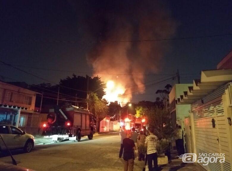 Incêndios em duas favelas de São Paulo deixam 220 desalojados - Crédito: Corpo de Bombeiros-SP/Divulgação