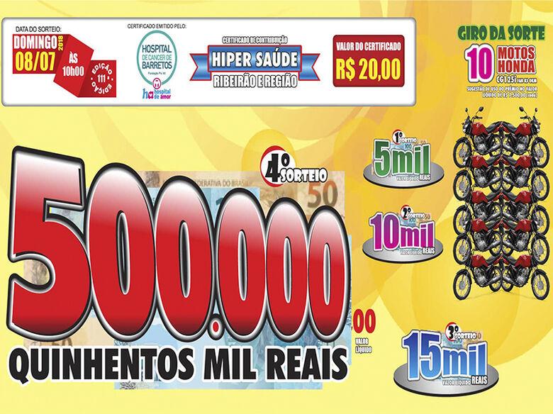 Hiper Saúde premia são-carlenses com R$ 500 mil -