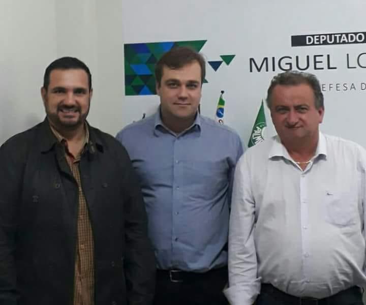 Vereador Julio Cesar, vereador Gustavo Pozzi e deputado federal Miguel Lombardi - Crédito: Divulgação