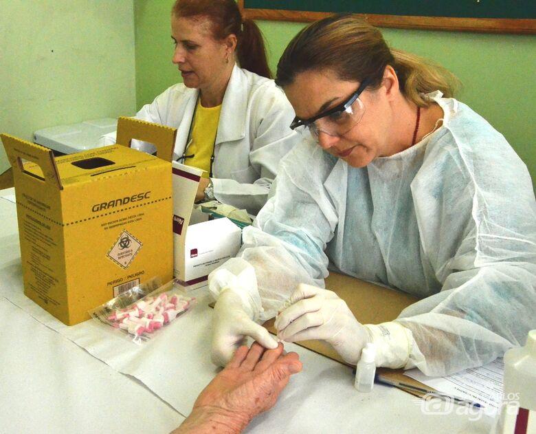 Mais de 400 testes rápidos são realizados para Hepatite C - Crédito: Divulgação