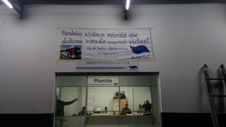 Suzantur faz homenagens os motoristas - Crédito: Divulgação