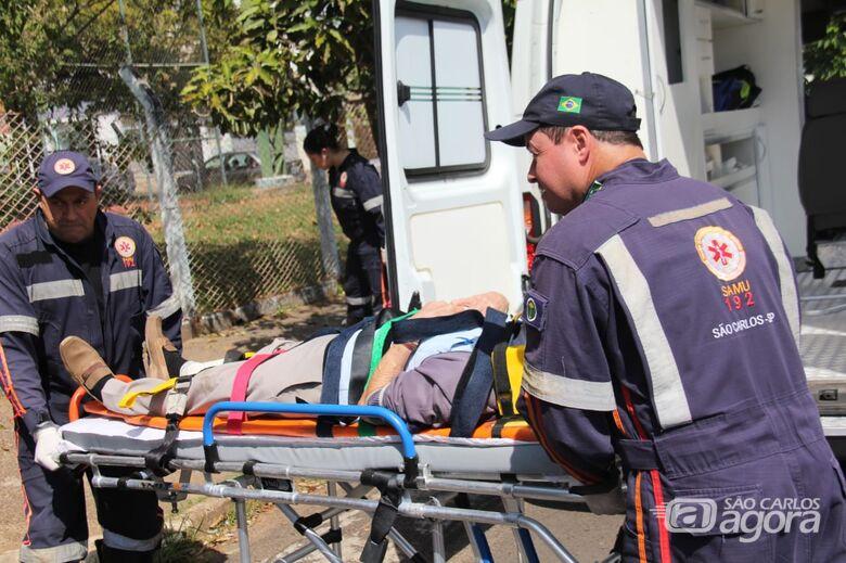 Idoso é atropelado por moto na Redenção - Crédito: Maycon Maximino