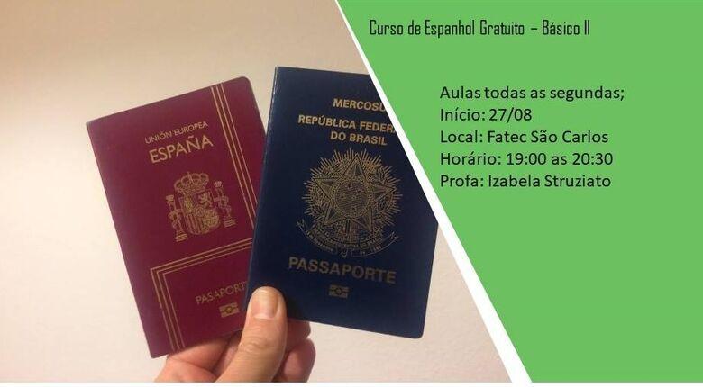 Fatec São Carlos realizará curso de Espanhol Básico I e II gratuitamente - Crédito: Divulgação