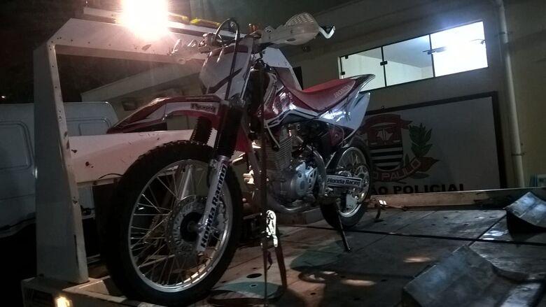 Após furtar moto, ladrão é detido pela Polícia Militar - Crédito: Divulgação
