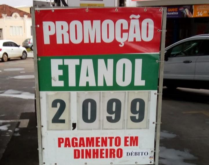 Preço do etanol despenca em Araraquara: R$ 2,09 - Crédito: Divulgação