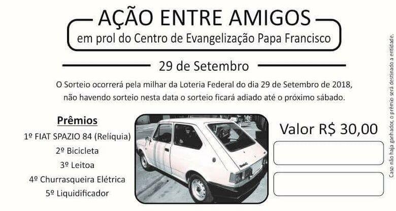 """""""Ação Entre Amigos"""" irá sortear um Spazio 1984 (relíquia) - Crédito: Divulgação"""