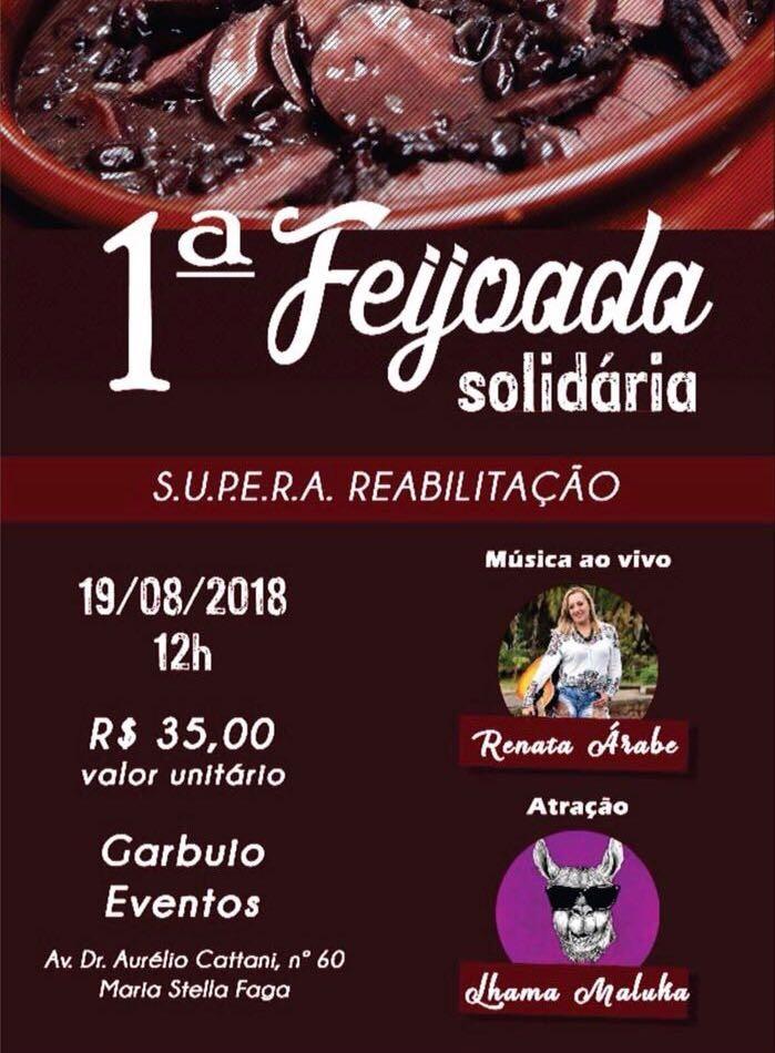ONG Supera realizará neste domingo sua primeira feijoada solidária -