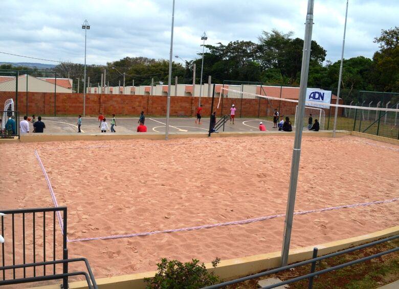 Área esportiva é nova opção de lazer em Água Vermelha - Crédito: Divulgação