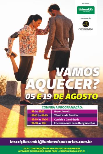 Venha se preparar para a 1ª Corrida Unimed São Carlos – Mude 1 Hábito -