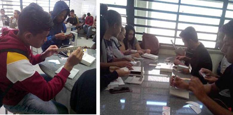 IFSC/USP São Carlos realiza aula de laboratório em escola do Cidade Aracy - Crédito: Divulgação