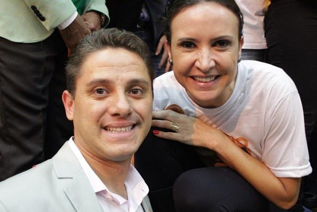 Maurren Maggi e Paraná Filho lançam candidaturas pelo PSB - Crédito: Divulgação