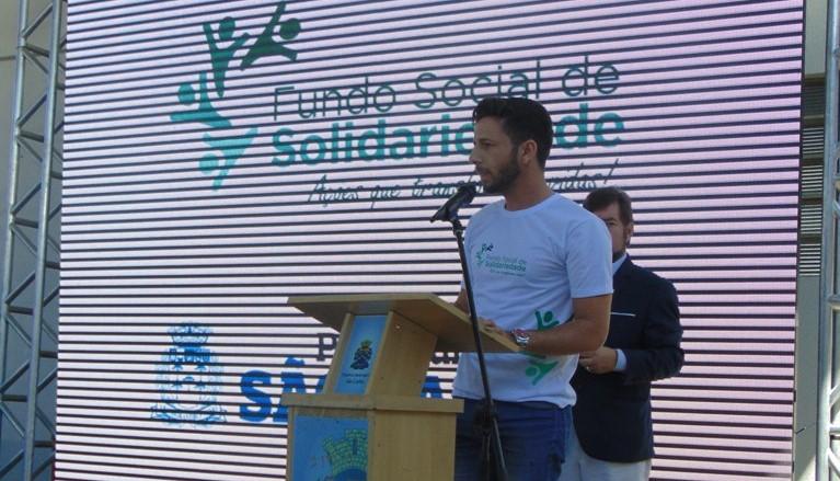 Vereador Elton Carvalho em reinauguração do Fundo Social de Solidariedade - Crédito: Assessoria do vereador