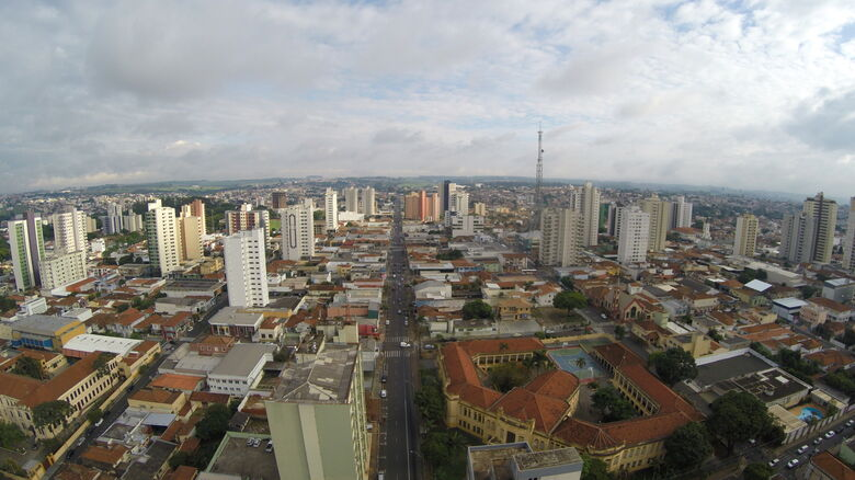 Vista aérea de São Carlos - Crédito: OWL Drones